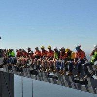 Reproduction moderne de «Déjeuner d'ouvriers sur un gratte-ciel»